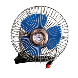 Full-Seal Clip-on Car Fan - 6-Inch - 60-Strip - 12V