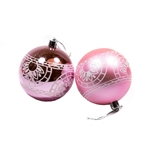 Medium Bulb Ornament Holiday Set with Decorative Box - 9 Piece - Light Pink - ALEKO