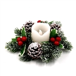 Holiday Candle Holder Garland Centerpiece - 6 inches - ALEKO