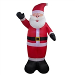 Giant Inflatable LED Waving Santa Claus with UL Certified Blower - 8 Foot - ALEKO