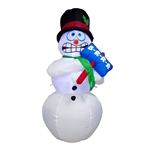 Inflatable LED Shivering Snowman for Yard with Sign - 6 Foot - ALEKO