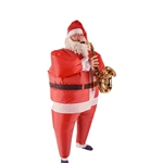 Inflatable Santa Claus Full Costume With Beard and Hat - ALEKO