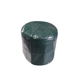 Heavy Duty Weatherproof Kettle Grill Cover - Polyethylene - Green - 22 x 28 Inches