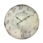 Rustic Vintage Style Round Wall Clock - Large - ALEKO