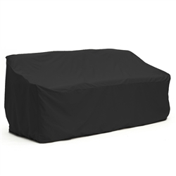 Heavy Duty Weather Resistant Indoor/Outdoor Protective Sofa Cover - Black - 63 Inches