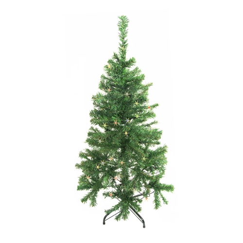 4 Foot Christmas Tree.Artificial Indoor Christmas Holiday Tree 4 Foot With 50 Multicolored Led Lights Green Color