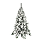 Snow Dusted Artificial Holiday Christmas Tree - with Green Metal Stand - 6 Foot