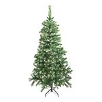 ALEKO® CTDG84H250WH Luscious 7.5 Feet (2.3 m) Artificial Christmas Tree With Soft White LED Lights, Dark Green Color