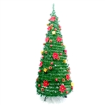 Pre-Decorated Instant Pop Up Christmas Holiday Tree - 6 Foot -  ALEKO