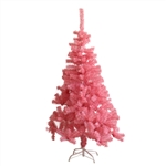Artificial Indoor Christmas Holiday Tree - 6 Foot - Light Pink - ALEKO