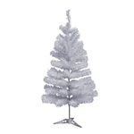 Miniature Artificial Holiday - 3 Foot - White