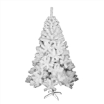 Snow Washed Artificial Indoor Christmas Holiday Tree - 7 Foot - White - ALEKO