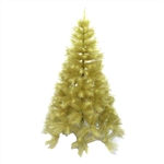 Artificial Indoor Christmas Holiday Tree - 7 Foot - Gold Glitter - ALEKO