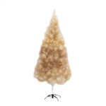High Society Artificial Indoor Christmas Holiday Tree - 8 Foot - Gold Glitter - ALEKO