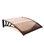 Polycarbonate Outdoor Window or Door Canopy - 40 x 40 Inches - Brown - ALEKO