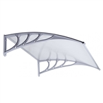 Polycarbonate Outdoor Window or Door Canopy - 40 x 47 Inches - Gray - ALEKO