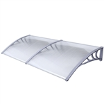 ALEKO Polycarbonate Outdoor Window or Door Cover, Gray
