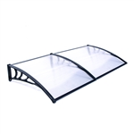 Polycarbonate Outdoor Window or Door Canopy - 40 x 80 Inches - White - ALEKO
