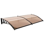Polycarbonate Outdoor Window or Door Canopy - 40 x 80 Inches - Brown - ALEKO