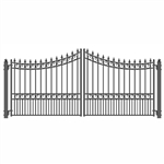 ALEKO MOSCOW Style Swing Dual Steel Driveway Gates 12'