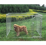 ALEKO® Dog Kennel 7 1/2' x 7 1/2' x 4' DIY Box Kennel Chain Link Dog Pet System, Run for Chicken Coop, Hens House