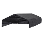 DKFCS4X8BK Full Coverage 8X4 Feet (2.4 X 1.2 m) Steel Roof Frame and Heavy Duty Waterproof Cover for Dog Kennel, Black