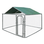 ALEKO  DKRFC10X13GR Waterproof Dog Kennel Roof Cover with Aluminum Grommets for 10 X 13 Feet (3 X 4 m) Kennels, Green