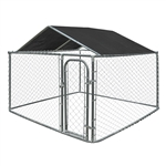 ALEKO  DKRFC8X8BK Waterproof Dog Kennel Roof Cover with Aluminum Grommets for 8 X 8 Feet (2.4 X 2.4 m) Kennels, Black