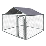 ALEKO   DKRFC8X8SL Waterproof Dog Kennel Roof Cover with Aluminum Grommets for 8 X 8 Feet (2.4 X 2.4 m) Kennels, Silver