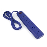 ALEKO EC2USB6BL 6 Outlet Surge Protector UL Power Strip With 2 USB Outlets And 6 Foot (1.8 m) Cord, Blue