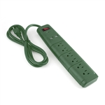 ALEKO  EC2USB6GR 6 Outlet Surge Protector UL Power Strip With 2 USB Outlets And 6 Foot (1.8 m) Cord, Green