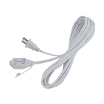 ALEKO ECI2O12FT Indoor Extension Cord 12 Foot (3.7 m) ETL Approved SPT-2 16/2 Gauge Power Cord Cable 3 Outlet Cube Tap, White