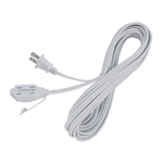 ALEKO ECI2O20FT Indoor Extension Cord 20 Foot (6.1 m) ETL Approved SPT-2 16/2 Gauge Power Cord Cable 3 Outlet Cube Tap, White