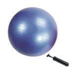 Fitness Balance Yoga Ball with Pump - 25.6 Inches Diameter - Blue