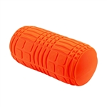 Grid Textured Massage Roller - 13.75 Inches Long - Orange