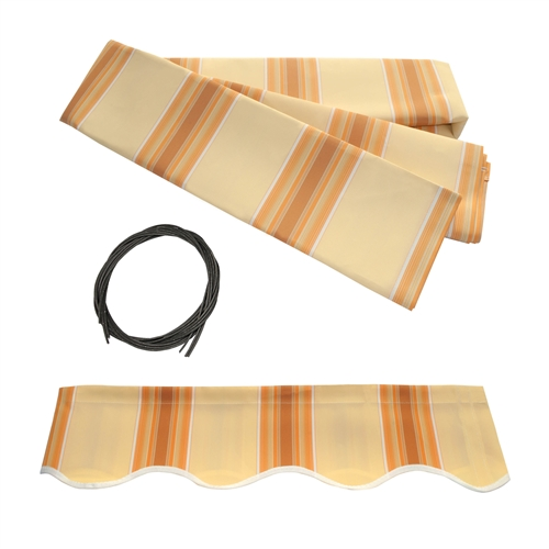 ALEKOreg Awning Fabric Replacement For 12x10 Ft Retractable Patio MULTI STRIPE YELLOW