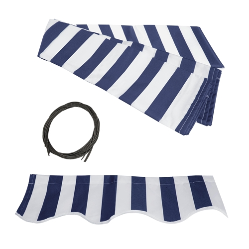 promo code 25884 f5daa ALEKO® Awning Fabric Replacement for 16x10 Ft Retractable Patio Awning,  BLUE and WHITE Stripes