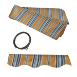 ALEKO® Awning Fabric Replacement for 20x10 Ft Retractable Patio Awning, Multi-Striped Sunset