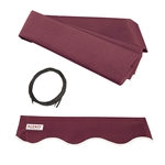 Retractable Awning Fabric Replacement - 6.5x5 Feet - Burgundy - ALEKO