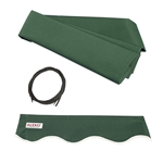 Retractable Awning Fabric Replacement - 6.5x5 Feet - Green - ALEKO