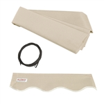 Retractable Awning Fabric Replacement - 6.5x5 Feet - Ivory - ALEKO