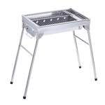 Lightweight Portable Foldable Stainless Steel Charcoal Barbecue Grill - ALEKO