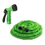 ALEKO GH100 Expandable Lawn Garden Hose 100 Foot with 6-way Spray Nozzle Hose, Green