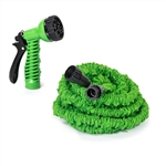 ALEKO GH25 Expandable Lawn Garden Hose 25 Foot with 6-way Spray Nozzle Hose, Green