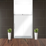 Glass Sliding Shower Door - 60 x 76 Inches - Brushed Nickel - ALEKO