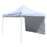 ALEKO Collapsible Gazebo with Removable Wall Panel - 10 x 10 Feet - White