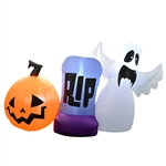 Inflatable RIP Halloween Trio - 5.2 Foot - ALEKO