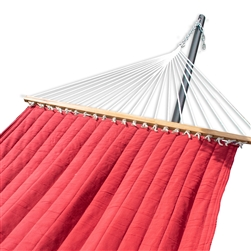 Quick Hang Portable Swing Quilted Hammock - One Person - Red - ALEKO