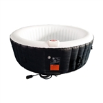 Round Inflatable Hot Tub Spa With Cover - 6 Person - 265 Gallon - Black and White - ALEKO