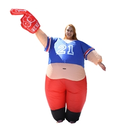 Halloween Inflatable Party Costume - Pot Belly #1 Sports Fan - Adult - ALEKO